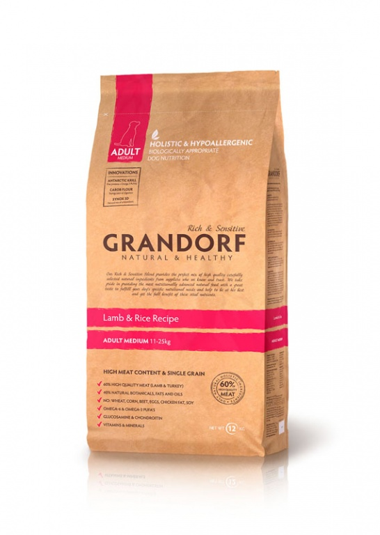 GRANDORF Adult Medium LAMB & RICE
